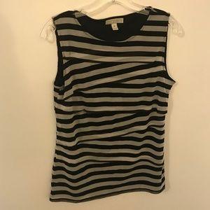 Black and Gray Stripe Top